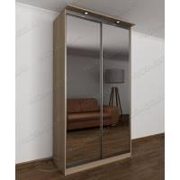 шкаф с раздвижными дверями с подсветкой с зеркальной дверью