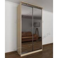 двухстворчатый шкаф с раздвижными дверями в спальню