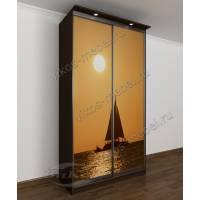 шкаф с раздвижными дверями в спальню цвета венге