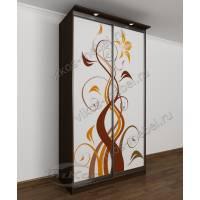 двухстворчатый шкаф с раздвижными дверями с подсветкой