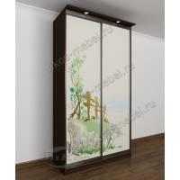 двухстворчатый шкаф с раздвижными дверями цвета венге