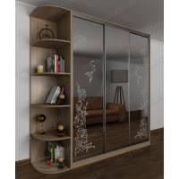 3-дверный шкаф с раздвижными дверями цвета шимо светлый