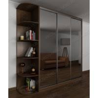 зеркальный 3-дверный шкаф с раздвижными дверями