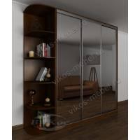 3-дверный шкаф с раздвижными дверями с зеркалом