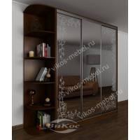 шкаф с раздвижными дверями для спальни с пескоструйным рисунком
