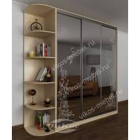 3-дверный шкаф с раздвижными дверями с пескоструйным зеркалом