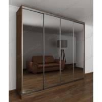шкаф с раздвижными дверями в классическом стиле цвета шимо темный