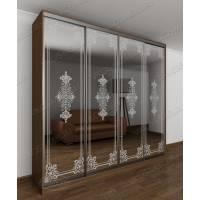 шкаф с раздвижными дверями в спальню цвета шимо темный