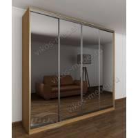 4-створчатый шкаф с раздвижными дверями в спальню