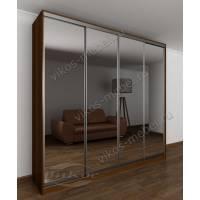 шкаф с раздвижными дверями с зеркалом в спальню