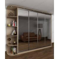 четырехдверный шкаф с раздвижными дверями цвета шимо светлый