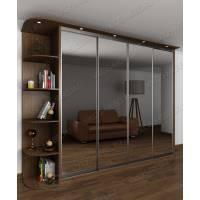 зеркальный шкаф с раздвижными дверями цвета шимо темный