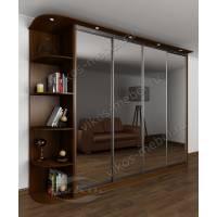 шкаф с раздвижными дверями для спальни с зеркалом