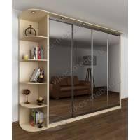 четырехдверный шкаф с раздвижными дверями с подсветкой