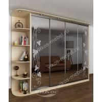 шкаф с раздвижными дверями с подсветкой с пескоструйным зеркалом