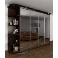 шкаф с раздвижными дверями с подсветкой цвета венге