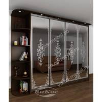 четырехдверный шкаф с раздвижными дверями для спальни