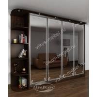 шкаф с раздвижными дверями с подсветкой для спальни