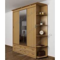 шкаф с раздвижными дверями для спальни шириной 120-135 см