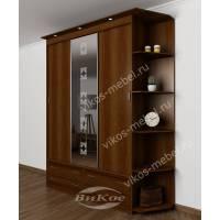 шкаф с раздвижными дверями с ящиками шириной 120-135 см