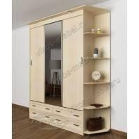 зеркальный шкаф с раздвижными дверями шириной 120-135 см