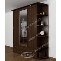 шкаф с раздвижными дверями для спальни с пескоструем