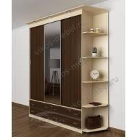 шкаф с раздвижными дверями с подсветкой шириной 120-135 см