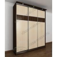 3-створчатый шкаф с раздвижными дверями в спальню