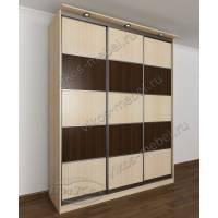 шкаф с раздвижными дверями для спальни цвета беленый дуб - венге