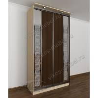 2-створчатый шкаф с раздвижными дверями с пескоструйным рисунком