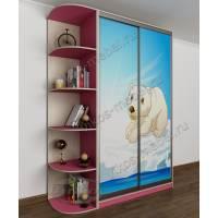 девчачий шкаф купе в детскую розового цвета