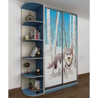 мальчуковый шкаф купе в детскую голубого цвета