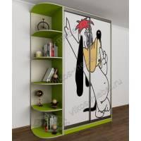 шкаф купе в детскую цвета зеленый лайм