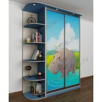 мальчуковый детский шкаф купе голубого цвета