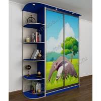 детский шкаф купе для парня синего цвета