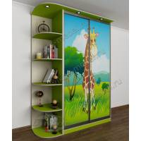 детский шкаф купе цвета зеленый лайм