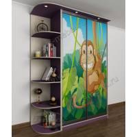 детский шкаф купе филетового цвета