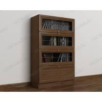 витражный 1-створчатый книжный шкаф