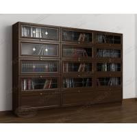 3-створчатый шкаф для книг цвета венге