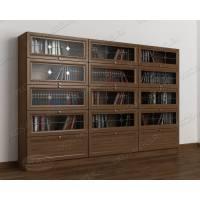 3-створчатый шкаф для книг цвета шимо темный