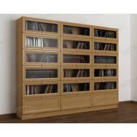 книжный шкаф со стеклом библиотека цвета бук