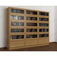 книжный шкаф со стеклом библиотека c витражным стеклом