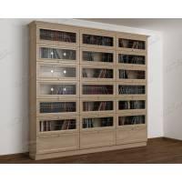 книжный шкаф со стеклянными дверями библиотека c витражным стеклом