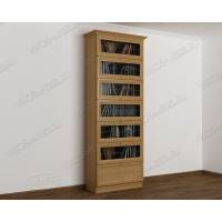 шкаф для книг библиотека цвета бук