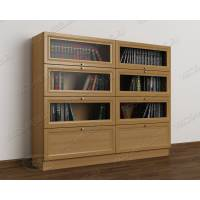 2-створчатый книжный шкаф со стеклом библиотека