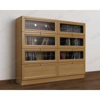2-створчатый книжный шкаф со стеклом цвета бук