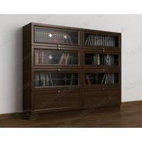 витражный книжный шкаф со стеклом библиотека