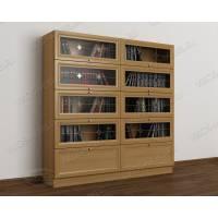 2-дверный книжный шкаф со стеклянными дверями цвета бук