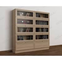 2-дверный книжный шкаф со стеклянными дверями библиотека
