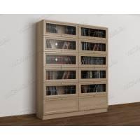 двухстворчатый книжный шкаф со стеклянными дверцами библиотека